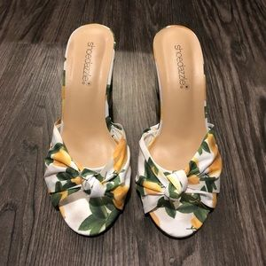 Shoedazzle Stecia Lemon 🍋 Heels